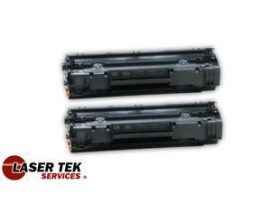 Laser Tek Services ® 2 Pack Premium Compatible CB435A 35A Toner Cartridges for the HP LaserJet P1005