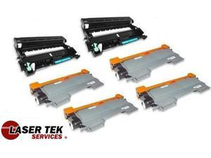 Laser Tek Services ® 4 Pack Compatible Cartridge for Brother TN450 & 2 Pack Compatible DR420 - 6PK total