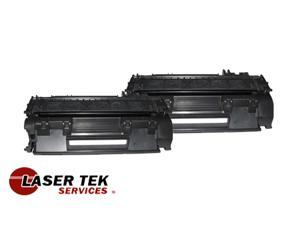 Laser Tek Services ® 2 Pack Premium Compatible CE505A 05A Toner Cartridge for HP LaserJet P2055 P2055N