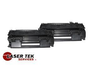 Laser Tek Services ® 2 Pack Premium Compatible CE505A 05A Toner Cartridge for HP LaserJet P2055 P2055N