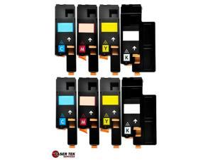 8 Xerox 106R01627 106R01628 106R01629 106R01630 Compatible Toner Cartridges for Xerox Phaser 6000 6010N WorkCentre 6015