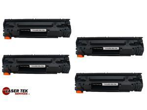 Laser Tek Services® 4 Pack Premium Compatible CE278A High Yield Toner Cartridge for HP P1566 P1606
