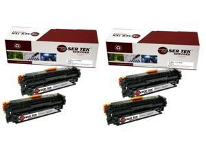 Laser Tek Services® 4 Pack Canon 131BK (6272B001AA) Black High Yield Replacement Toner Cartridges