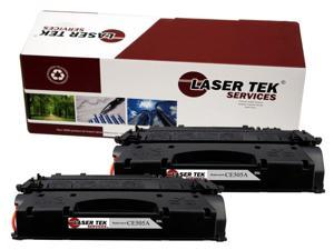 Laser Tek Services ® HP CE505A (05A) 2 Pack Standard Yield Compatible Replacement Toner Cartridges