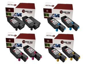 Laser Tek Services® 8 Pack Replacement Xerox Phaser 6000, Phaser 6010, and WorkCentre 6015 Toner Cartridges