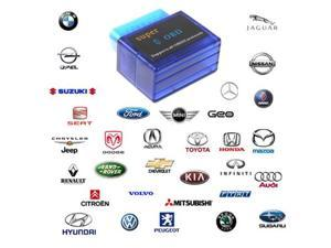 Super Mini ELM327 V1.5 Processor OBD2 OBD-II Bluetooth CAN-BUS Auto Car Diagnostic Tool for Windows OSX and Android With ...