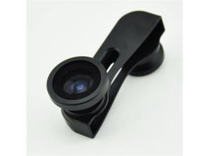 iPhone 5/5G 3-in-1 180 Degree Fisheye/Micro/Wide Angle Camera Lens (Black)