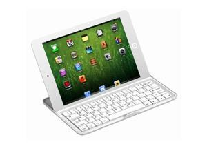 Bluetooth Wireless Aluminum Ultra Thin Stand Station KeyBoard Case for iPad Mini
