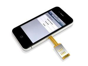 Brand NEW Easy to Use NO CUTTING Dual SIM Card Adapter Converter for iPhone 4 4S