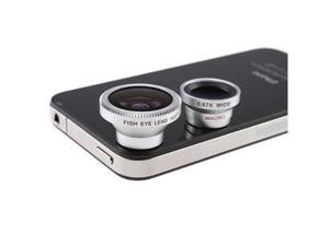 3-in-1 Camera Lens Kit for Apple iPhone 4 4S iPad (Fish Eye Lens, Wide Angle, Micro Lens) - OEM