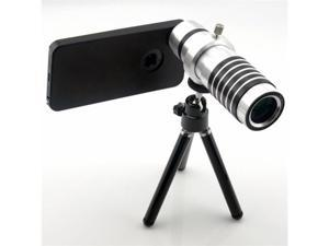 14x Zoom Black Telephoto Camera Lens with Mini Tripod for Apple iPhone 5 5th Generation (Universal Holder, Lens Cleaning ...