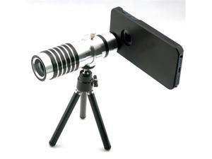 14X Magnifier Zoom Aluminum Camera Telephoto Lens w/ Tripod for Apple iPhone 5