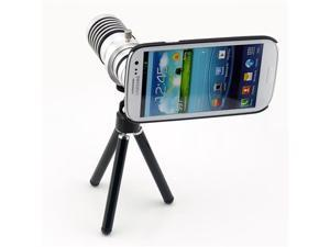 14X Zoom Long Focal Telephoto Lens Kit for Samsung Galaxy S3 (Universal Holder, Mini Tripod, Back Case and Pouch Included ...