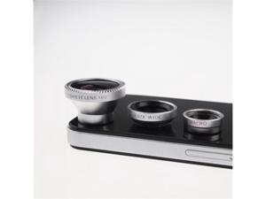 Camera Lens 3 in 1 Kit Fish Eye Lens Wide Angle And Micro Lens for iPhone 4S/5/5S/5C/6, Blackberry Samsung Galaxy S3/ S4/ ...