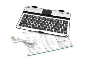 Black Silver Aluminum Cover Case Bluetooth Keyboard For Samsung Galaxy Note 10.1 N8000