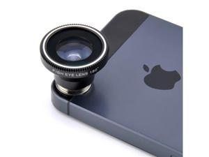 180 Degree Fish Eye Fisheye 0.28X Lens for Mobile Phones (Black)