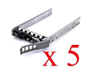 """5 PCS New 2.5"""" Dell 0G176J SAS SATA Case Tray Caddy F830C KF248 0G281D XN391 18KYH Y961C F449D TJ561 Y961D 0Y961D T961C 0T961C ..."""