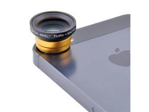 Black / Red / Silver / Yellow Portable 0.67x Detachable Wide Angle+Macro Lens for Apple iPad iPhone 5 5S 5C 4G 4S