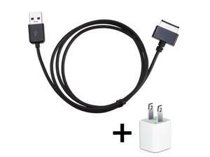 2M USB 3.0 Charger Sync Data Cable for ASUS Eee Pad Transfomer TF201 TF101 + USB AC Home Wall Charger