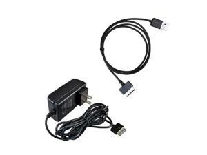 USB Sync Data Cable + US AC Wall Charger for ASUS EeePad Transformer Prime TF300 TF700 TF700T