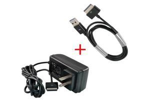 AC Power Adapter Wall Charger With USB Sync Data Cable for Asus EeePad Transformer TF101 TF201 TF200 SL101