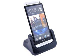 Black Desktop Charger Cradle Dock Docking Station For HTC ONE M7(Case Compatible)