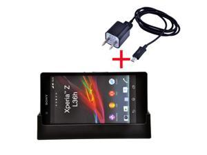 Sync Data & Charging Dock Cradle Desktop Charger + USB Cable + AC Charger For Sony Xperia Z L36h