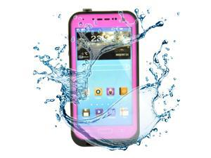 Pink Waterproof Dirtproof ShockProof Silicone Gel Touch Screen Case Cover For Samsung Galaxy S4 SIV i9500