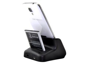 Dual Desktop Charger Cradle Dock for Samsung Galaxy S4 Active I9295 - Support Charging Spare Battery and Audio-out
