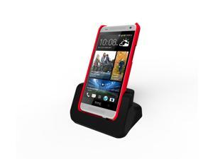 Black Desktop Charger Cradle Dock Docking Station For HTC ONE MINI (Case Compatible)
