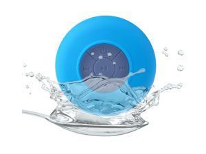 Blue Waterproof Portable Wireless Bluetooth 3.0 Mini Speaker Shower Pool Car Handsfree Mic foriPhone/ HTC/ Sony/ Nokia/ iPad/ ... - OEM