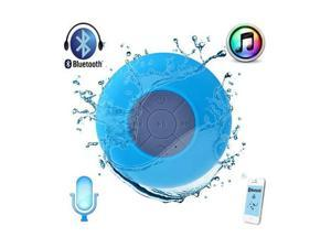 Mini Blue Waterproof Portable Wireless Bluetooth 3.0 A2DP Speaker 3W Shower Pool Car Handsfree with Microphone - 6 Hour Rechargeable ...