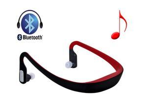 Red Sports Wireless Bluetooth 3.0+ Headphone Earphone Music Headset Handsfree for Mobile Devices - OEM