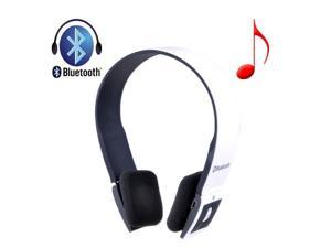 Wireless Bluetooth 3.0 Stereo Headset Headphone Earphone Handsfree for Mobile Devices, White - OEM