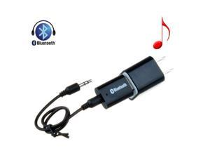 Black USB Bluetooth 3.5mm Stereo Audio Music Receiver Adapter +Wall Charger Adapter for Speaker iPhone Mp3