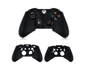 2x Protective Black Soft Silicone Gel Rubber Case Skin Grip Cover for Microsoft Xbox One controller