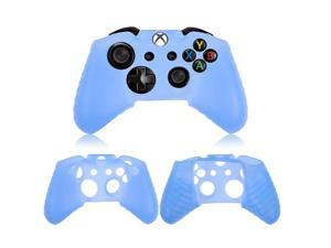 2x Protective Blue Soft Silicone Gel Rubber Case Skin Grip Cover for Microsoft Xbox One controller