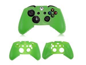 2x Protective Green Soft Silicone Gel Rubber Case Skin Grip Cover for Microsoft Xbox One controller