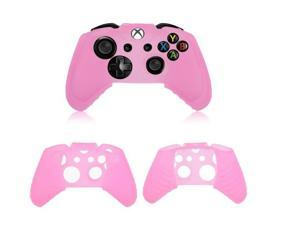 2x Protective Pink Soft Silicone Gel Rubber Case Skin Grip Cover for Microsoft Xbox One controller
