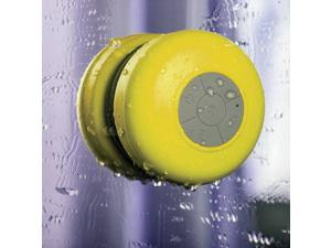 Waterproof Wireless A2DP Bluetooth Mini Speaker 3W Shower Pool Car Handsfree Mic, Yellow