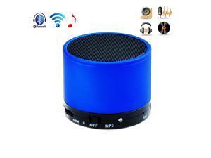 Blue Portable Metal 3W Wireless HiFi Mini Bluetooth Speaker Hands Free Mic For Apple iPad 1 2 3 4 iPad Mini iPhone 5S 5C ... - OEM