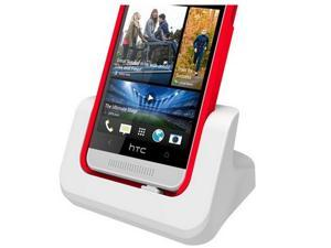 USB Dual Desktop Charger Charging Cradle dock Station for HTC One Max White (Case Compatible)