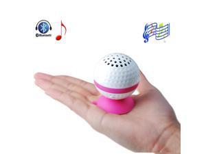 Pink Wireless Golf Ball Shape Hand-free Bluetooth Stereo Speaker for iPhone 5S 5C 5 4S 4 3GS 3G iPad 1 2 3 4 iPad Mini iPod ... - OEM