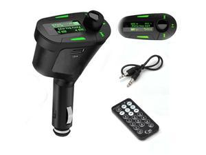 Car Kit MP3 Player Wireless FM Transmitter Modulator USB SD MMC LCD Remote Green