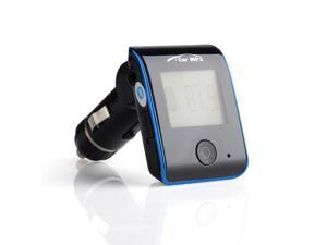 Patazon LCD Car MP3/4 Player FM Transmitter Modulator - Support USB/SD/Card, Bluetooth Handsfree - Blue