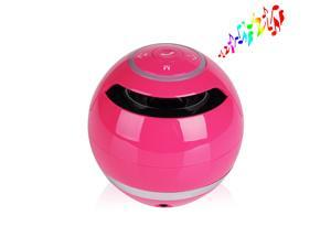 Pink 3.5mm Jack Wireless Portable Stereo Bluetooth Speaker Super Bass Handsfree Speakers Support USB TF SD For iPhone 5 5S ... - OEM