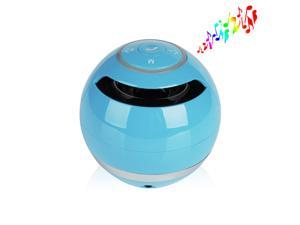 Blue 3.5mm Jack Wireless Portable Stereo Bluetooth Speaker Super Bass Handsfree Speakers Support USB TF SD For iPhone 5 5S ... - OEM