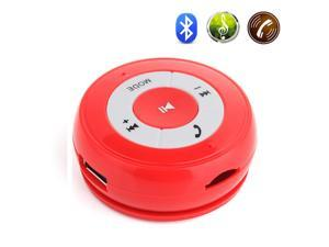 Black Wireless Bluetooth Hands-free Car Speaker Player Music Receiver with 3.5mm/USB/TF Ports For Apple iPhone 4S 5 5S 5C ...