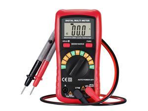 Red Digital Multimeter with NCV Feature, Amp/ Volt/ Ohm Meter, Auto-ranging Multitester/VOM for Measuring Voltage/ Current/ Resistance/ Frequency/Continuity/ Diode with LCD Backlight Display