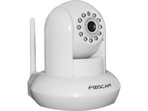 Foscam FI8910W White - Wireless N Compatible/Wired Pan & Tilt IP Camera with IR-Cut Filter For True Color Images - 24 Foot ...